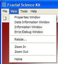Fractal Science Kit - Fractal Window View Menu